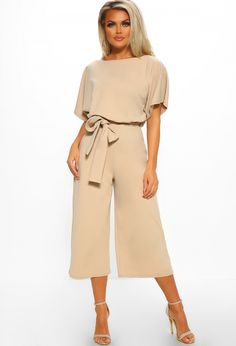 076f0c34808 Always Chic Stone Belted Culotte Jumpsuit - 8