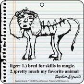 """liger: bred for skills in magic . pretty much my favorite animal"" napoleon dynamite Napoleon Dynamite Quotes, Aggressive Animals, Dark Sense Of Humor, My Themes, Movies Showing, Love Quotes, Lol, My Favorite Things, My Love"