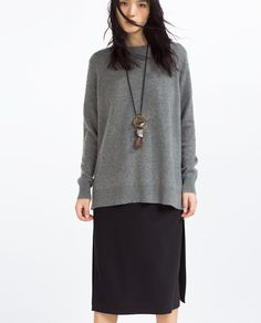 OVERSIZED CASHMERE SWEATER from Zara