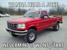 Funny Truck Quotes, Truck Memes, Funny Car Memes, Really Funny Memes, Hilarious, Truck Humor, Funny Stuff, Funny Cars, Funny Rude