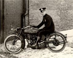 Old Indian police motorcycle.