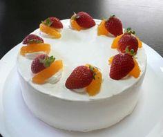 イチゴとオレンジのショートケーキ