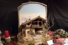 Krippenausstellung 2016 - Krippenverein Seefeld Diorama, Nativity, Gazebo, Outdoor Structures, House Styles, Christmas, Diy, Painting, Inspiration