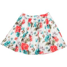 Water Color Floral Skater Skirt ($22) ❤ liked on Polyvore featuring skirts, bottoms, faldas, saia, flower print skirt, floral skater skirt, flared floral skirt, flared skirt and pleated skirt