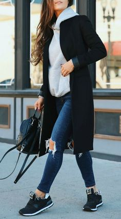 Casual Street Style for Everyday Wear - Andee Layne Accesorios + mo. - Casual Street Style for Everyday Wear – Andee Layne Accesorios + moda de viajes – - Winter Fashion Outfits, Casual Fall Outfits, Simple Outfits, Look Fashion, Spring Outfits, Black Outfits, Womens Fashion, Fashion Fall, Winter Outfits 2019