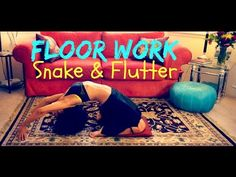 Belly dance floor work: adding the belly flutter at the end of the snake undulation ~ Free belly dance classes online