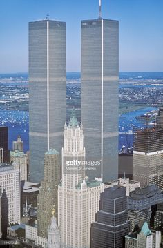 Twin Towers Manhattan Stock Photos and Pictures | Getty Images