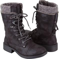 ROXY Boston Womens Boots | Black combat boots