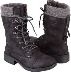 ROXY Boston Womens Boots | Black combat boots