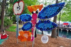 Image detail for -... Earth Day Festival— Our Bottle Cap Art Garden was Quite Popular