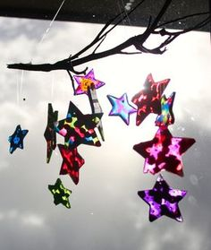 sun catcher- just with cookie cutters and melting plastic beads!