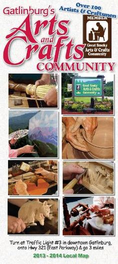 Gatlinburg's Historic Great Smoky Arts & Crafts Community Trail - 8 mile loop! Shop and see skills handed down for generations, heritage at its best. #gatlinburg