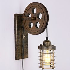 SUNWE Industrial Retro Iron Wall Lamp Creative Personalit...