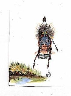 #aceo tw nov native first nation aboriginal subject Walker ebsq original #art wow!