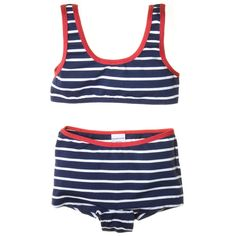 Polarn O Pyret CLASSIC STRIPE 2-PIECE BATHING SUIT (.....wish top was more shirt/tank top.......)