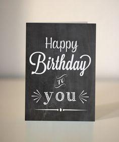 Happy Birthday chalkboard card. £2.45, via Etsy.