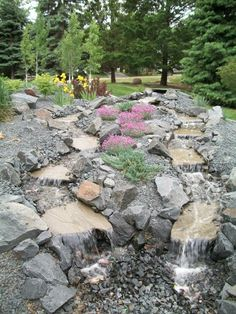 Double Stream Pondless Trap Rock Waterfall  #waterfall #landscaping #tranformation #relaxation #beautiful