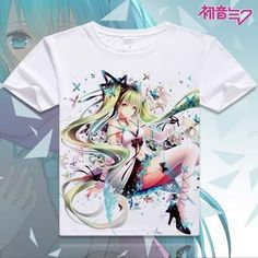 Hatsune Miku Short Sleeve Anime T-Shirt V18