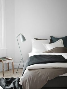 Rustic - colours - grey - white - sleeping - bed - bedroom