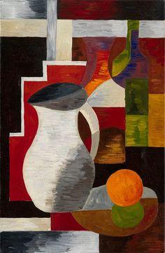 "Alexandra Exter (Russia, 1882-1948), ""Still Life whit Jug"""