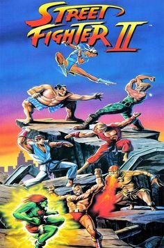 90s Street Fighter II poster