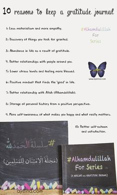 10 reasons to keep a gratitude journal - thanking Allah for all His blessings and remaining positive Hadith In English, Boost Creativity, Ways To Be Happier, Daily Prayer, Mind Body Soul, Best Relationship, Islamic Quotes, Positive Vibes, Quran
