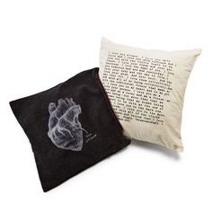 Secret Thoughts Heart Pillow, $90