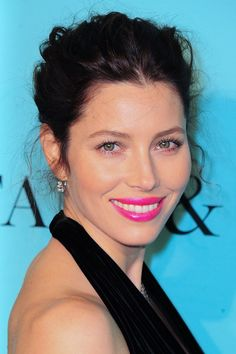 Celebs Do Bright Lips - Celebrity Women celebrity hair hairstyle make-up pictures (Glamour.com UK)