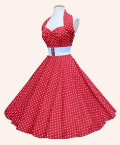 50s Halterneck Polka dot Dress from Vivien of Holloway | 1950s Dresses from Vivien of Holloway  Did I really just find THE Carrie Hope Fletcher dress?