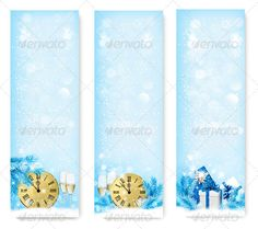 Three Holiday Banners with Clock   #GraphicRiver         Three holiday banners with gift boxes and clock. Vector. Fully editable, vector objects separated and grouped, no blends, gradient mesh used. If you need a layered PSD, write it in the comments!                     Created: 6 December 13                    Graphics Files Included:   Vector EPS                   Layered:   No                   Minimum Adobe CS Version:   CS             Tags      abstract #background #banner #beverage…