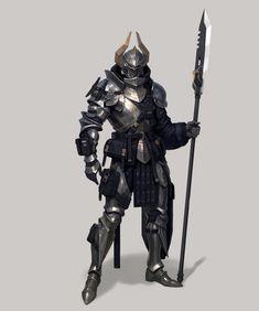 Samurai Concept, Warrior Concept Art, Armor Concept, Fantasy Character Design, Character Design Inspiration, Character Concept, Character Art, Fantasy Armor, Medieval Fantasy