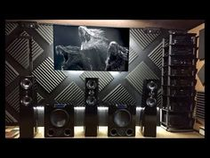 Amazing SVS Dolby Atmos home theater system with massive dual subwoofers and head-turning height effects. Svs Subwoofer, Foam Panels, Ceiling Speakers, Audio Room, Dolby Atmos, Speaker System, Audiophile, Home Theater, Turning