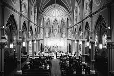 St. Alphonsus Catholic Church wedding, Chicago.