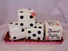bunco dice cake