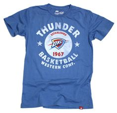 Oklahoma City Thunder Tap Cornbread Super Soft Vintage Washed Tee - Blue