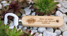 Bieröffner (together)     GUFRU Best Beer, Rolling Pin, Good Things, Drinks, Baking Supplies, Beer, Gift, Plants, Drinking
