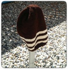 Modern Slouchy Hand Knit Beanie in Chocolate by LilRedKnittingHood, $18.00