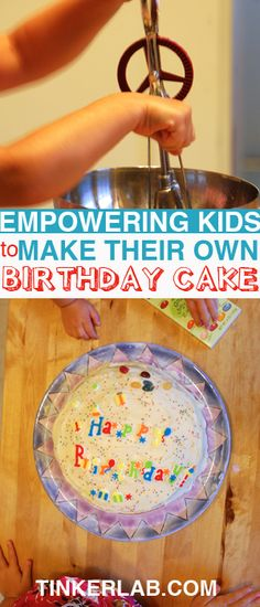 A great project--make your a birthday cake for yourself or a loved one. Measuring and following instructions are great early literacy skills.