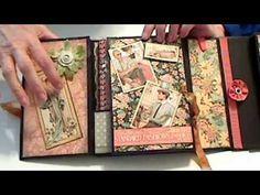 Graphic 45 Ladies Diary Folding Secretary Book