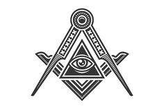 Masonic Freemasonry Emblem Icon Set by on Masonic Order, Masonic Art, Masonic Symbols, Truth Tattoo, Masonic Tattoos, Egyptian Tattoo Sleeve, Pyramid Eye, Old Symbols, Freemasonry