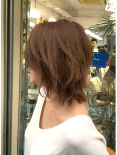 Short Layered Haircuts, Layered Cuts, Short Hair With Layers, Long Hair Cuts, Medium Hair Styles, Short Hair Styles, Mom Haircuts, Corte Y Color, Japanese Hairstyle
