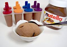 Nutella ice cream! I'm drooling. All you need is 1 cup of nutella and 6 bananas. That's it. You can add cinnamon or cocoa powder, too!