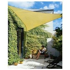 18 foot sun shade $39~Would love a few of these in the back yard in the summer.
