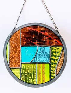 What Now painted glass art soldered and leaded Fused Glass, Stained Glass, Hanging Chair, Glass Art, Painting, Home Decor, Hammock Chair, Decoration Home, Room Decor