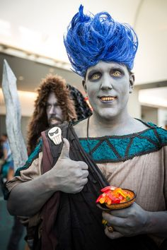 Hades! Dig the gummi worms in his cup. #SDCC