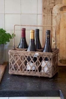 Coming Soon | Rivièra Maison Rustic Rattan Bouteilles de Vie Bottle Holder