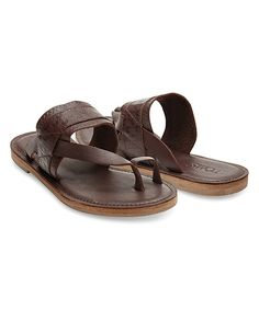 Look what I found on #zulily! TOMS Mahogany Leather Embossed Isabella Sandal by TOMS #zulilyfinds