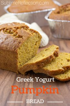 Pumpkin bread w Greek yogurt