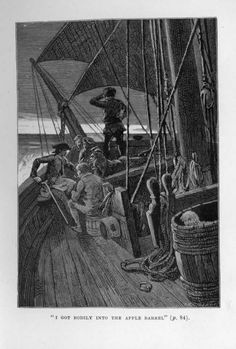 Information about the earliest illustrations of Robert Louis Stevenson's Treasure Island, including a gallery of images.