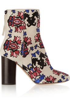 Isabel Marant Guya embroidered suede boots |